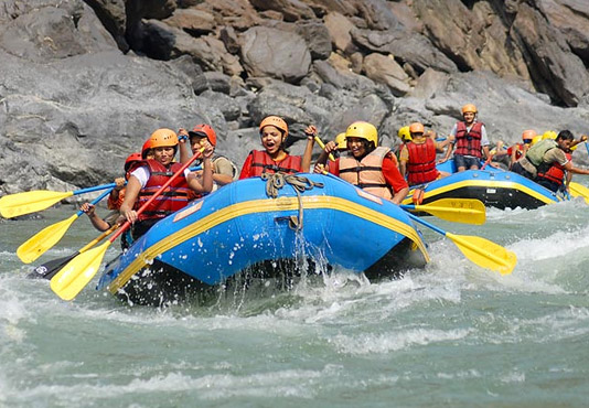 Corbett with River Rafting